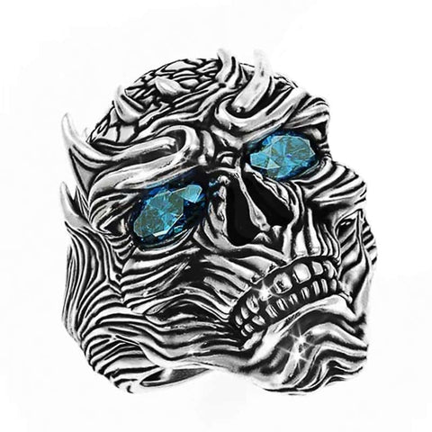 Skull Ring White Walker