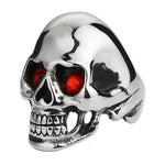 Skull Ring With Red Eyes | Skull Action