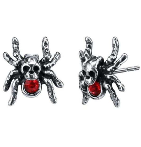 Skull Spider Earrings
