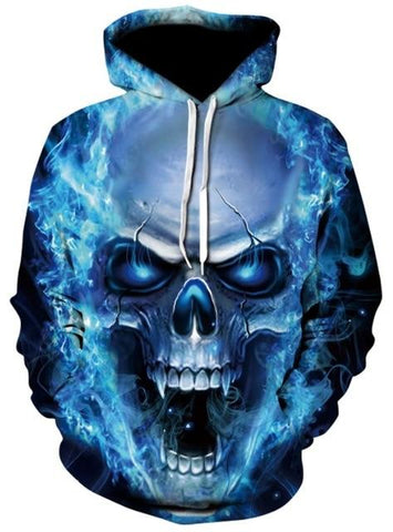 skull sweatshirt blue