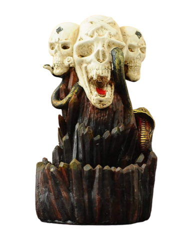 Skull Waterfall Incense Burner