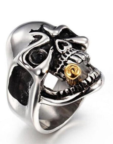 skull with cigar ring