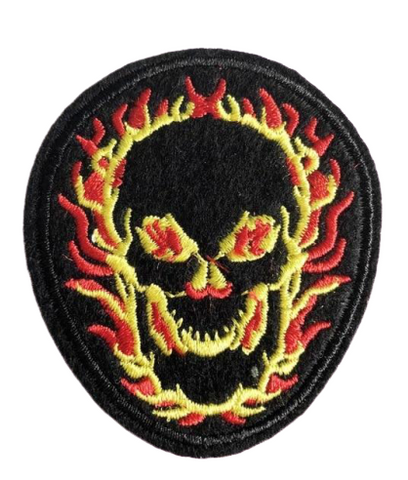 Skull With Flames Patch