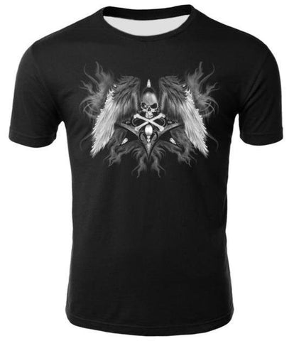 Skull With Wings T Shirt