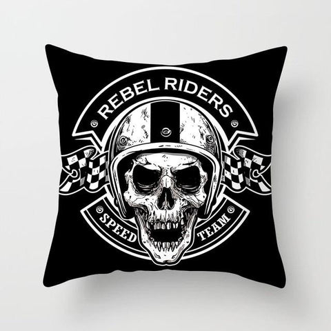 Speed Skull Pillow