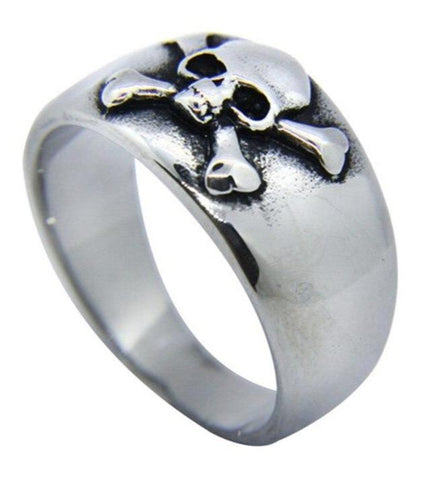 Stainless Steel Skull And Crossbones Ring | Skull Action