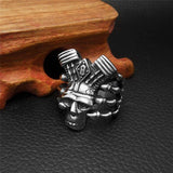 Stainless Steel Skull Biker Ring | Skull Action