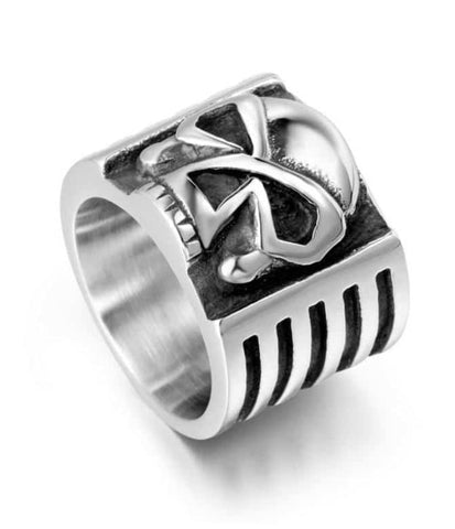 stainless steel skull rings for sale