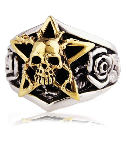 star eyes skull ring