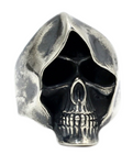 sterling silver grim reaper ring