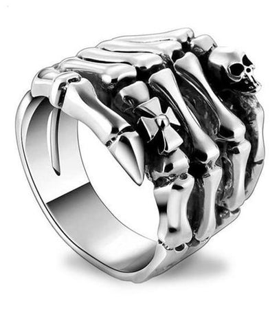 sterling silver skeleton ring