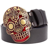 sugar skull belt buckle