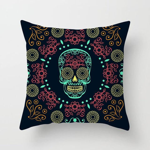 Sugar Skull Decal Pillow