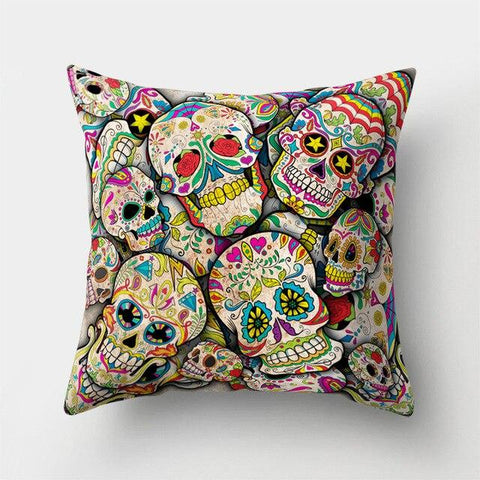 Sugar Skull Pillow Covers