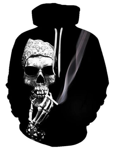 sweatshirt with skull