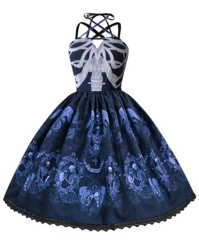 Torrid Blue Skull Dress
