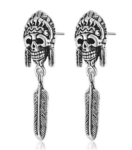 Tribal Skull Earrings