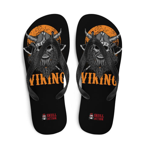 viking-skull-warrior-flip-flops