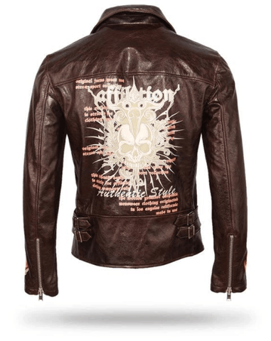 Vintage Skull Leather Jacket