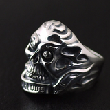 Weird Silver Rings | Skull Action