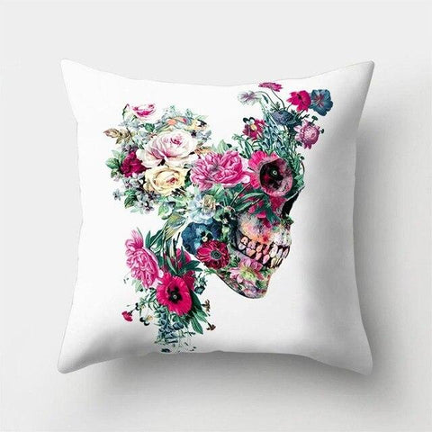 White Skull Pillow