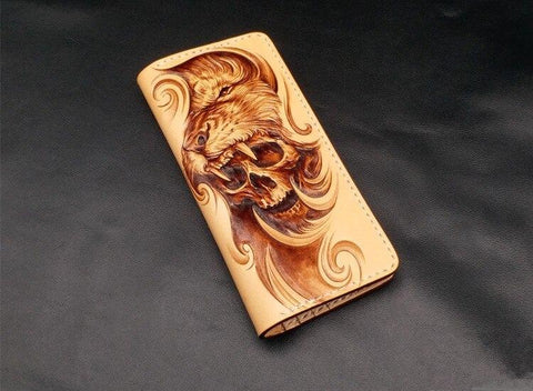 Wolf Wallet Leather | Skull Action
