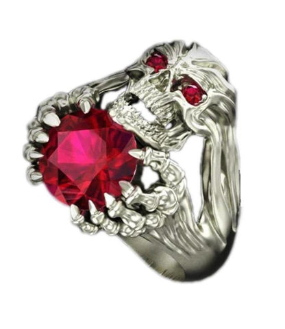 womans skull ring