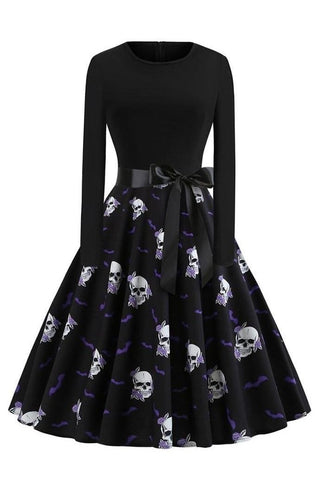 Womens Long Sleeve Skull Dress