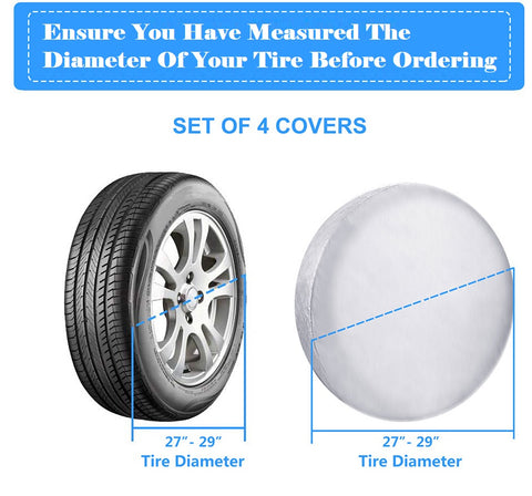 27 to 29 inch tire covers
