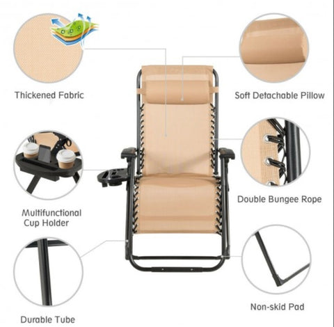Extra Wide outdoors Reclining Chair