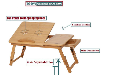 Folding Wood Laptop Bed Stand
