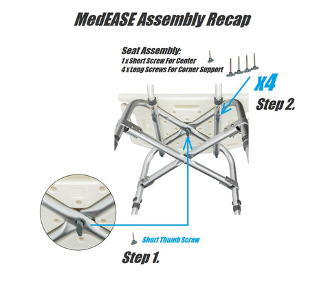 MedEase showerchair Instruction manual