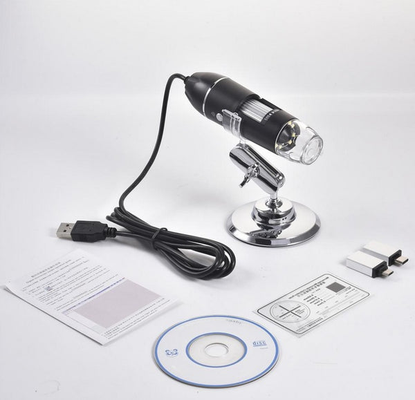 USB Microscope 1600x Zoom 1080P HD For Smartphones Android Camera