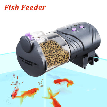 Automatic Fish Feeder Feed On Vacation Twice Daily - Flake, Pellet & Tablet