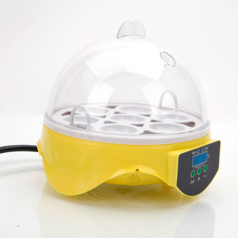 Mini 7 Egg Incubator For Hatching Chicken & Poultry Eggs From Home