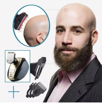 BaldX™ Bald Head Shaver Rechargeable Via USB For Close Skull Shave