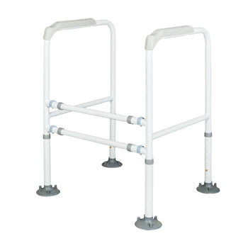 Bariatric Toilet Safety Frame Heavy Duty Strong Rails 450 LB Capacity