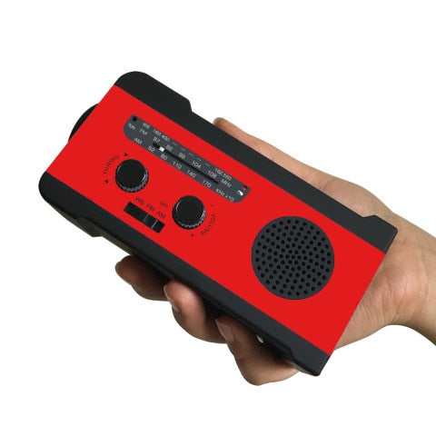 Hand Crank Radio Solar Wind Up Powered Emergency Weather Power Supply