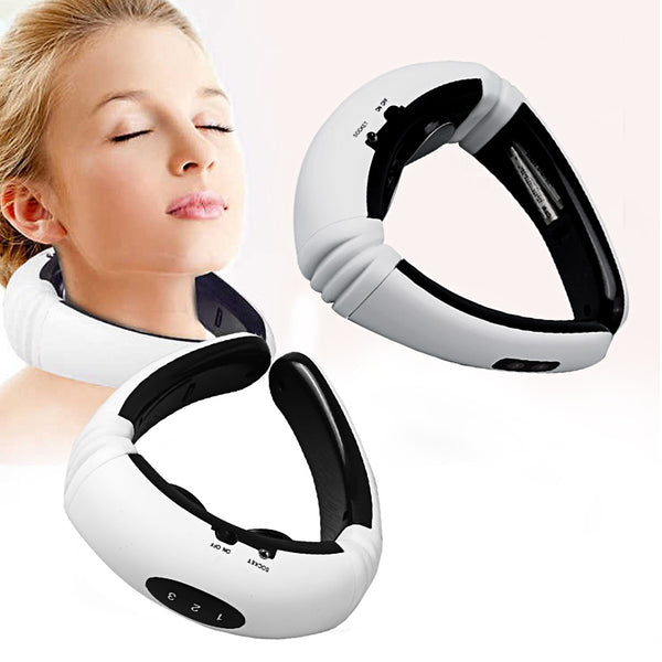 3D Neck Massager Heat Pulse Portable Wearable Neck Pain Relief Device