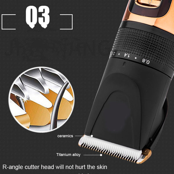 Barber Hair Cutting Machine Cordless Trimmers Clippers For Men