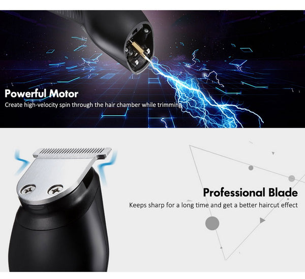 Hair Clippers Set Cordless Trimmers For Men By Kemei Rechargeable USB