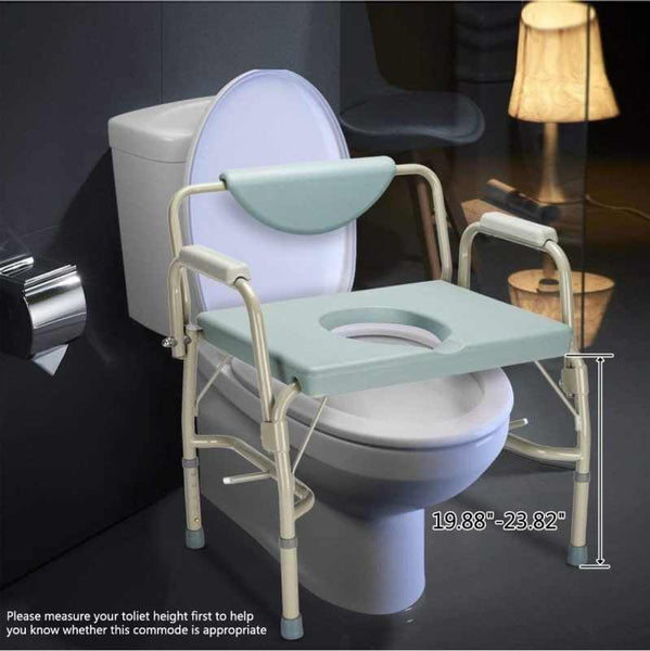 MedEase Bariatric Bedside Commode 550 LB Extra Wide Over Toilet Chair