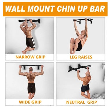 Wall Mounted Pull Up Bar With Heavy Duty Rating 440LB