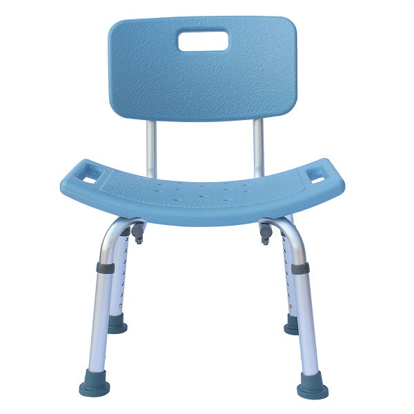 MedEase Shower Chair Height Adjustable For Tall People with Back