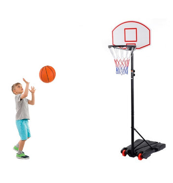 Kids Basketball Hoop Portable Youth Backboard & Rim On Wheels