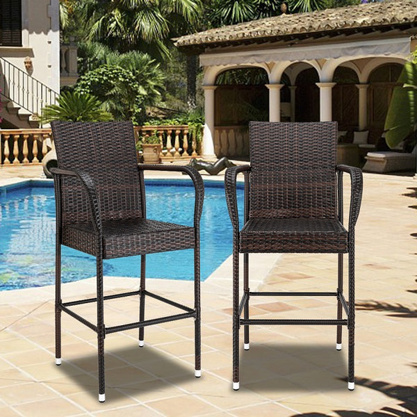 Outdoor Wicker Bar Stools