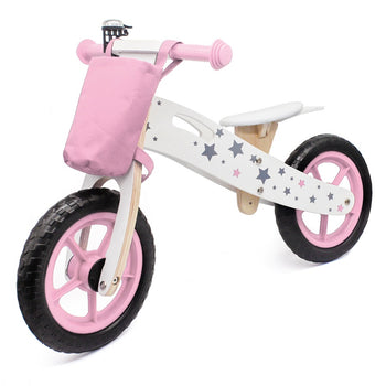 Toddlers Balance Bike Wooden Bicycle For 2, 3, & 4 Year Old Boys/Girls