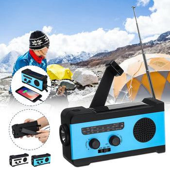SolarCrank™ Hand Crank Radio Solar & Wind Up Powered Emergency Weather