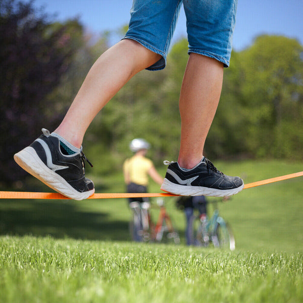 Slackline Kit For Kids & Beginners With Trainer Line And Balance Belt