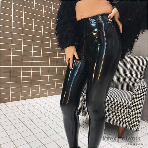 2020 Spring New Patent Leather Bright Gradient Color Sexy Wild Body Bag Hip Plus Velvet High Waist